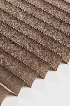 Açık Kahverengi Lantana Seri 15mm Cam Balkon Plise Perde