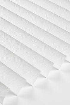 Beyaz Lantana Seri 15mm Cam Balkon Plise Perde