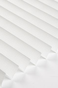 Beyaz Lotus Seri 15mm Cam Balkon Plise Perde