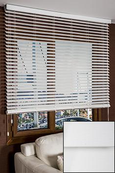 Beyaz Truwood 50mm Damarlı Ahşap Görünümlü Jaluzi Perde