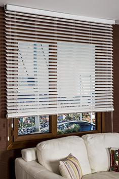 Beyaz Truwood 50mm Ahşap Görünümlü Jaluzi Perde