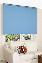 İkili Perde (Ön Denizci Design Tül Stor -Arka Mavi Linen Stor )