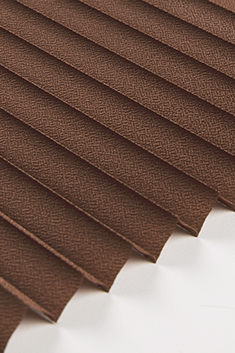 Kahverengi Lantana Seri 15mm Cam Balkon Plise Perde