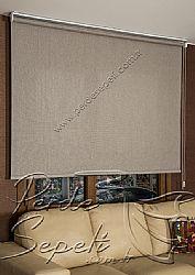 Kahverengi Örgülü Cosmo Screen Stor Perde - 3