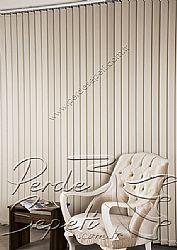 Kırık Beyaz Sedefli Linen Dikey Kumaş Perde 89mm - 1