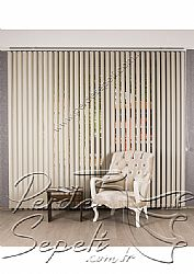 Kırık Beyaz Sedefli Linen Dikey Kumaş Perde 89mm - 2