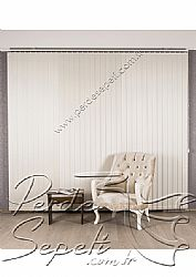 Kırık Beyaz Sedefli Linen Dikey Kumaş Perde 89mm - 5