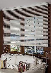 Kirli Beyaz Truwood 50mm Ahşap Görünümlü Jaluzi Perde - 1