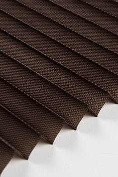 Koyu Kahverengi Frezya Seri 15mm Cam Balkon Plise Perde
