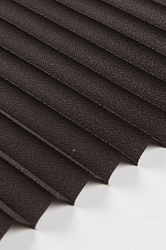 Koyu Kahverengi Lantana Seri 15mm Cam Balkon Plise Perde