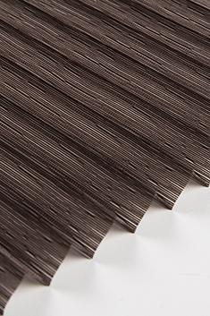 Koyu Kahverengi Petunya Seri 15mm Cam Balkon Plise Perde