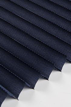 Lacivert Frezya Seri 15mm Cam Balkon Plise Perde