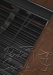 Mat Siyah Ahşap Jaluzi 50mm Perde - 7