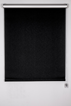 Promosyonel 120x200 - Siyah Screen Stor Perde (TAÇLI) KOD:220.