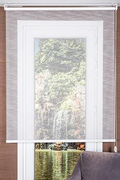 Promosyonel 120x200 Beyaz Çizgili Estela Tül Stor Perde KOD:347.