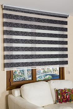 Promosyonel 120x200 Siyah Antoryum Zebra Perde KOD:324.