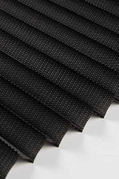 Siyah Frezya Seri 15mm Cam Balkon Plise Perde