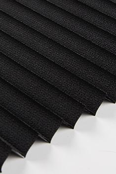 Siyah Lantana Seri 15mm Cam Balkon Plise Perde