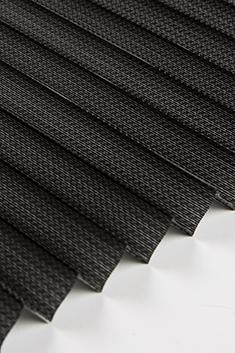 Siyah Lotus Seri 15mm Cam Balkon Plise Perde