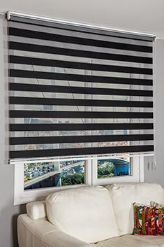 Siyah Panorama Zebra Perde