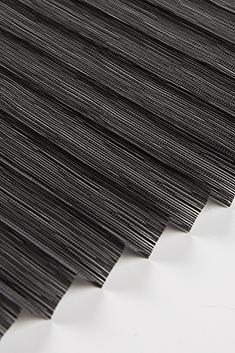 Siyah Petunya Seri 15mm Cam Balkon Plise Perde