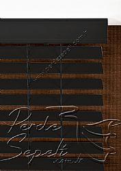 Siyah Truwood 50mm Ahşap Görünümlü Jaluzi Perde - 6