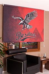 120x200 Beşiktaş Kırmızı Kartal Stor Perde