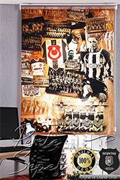 80x200 Beşiktaş Nostalji Stor Perde -