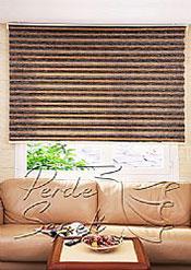 Acı Kahve-Kahve Bamboo Star Zebra Perde - 3