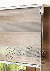Açık Kahve Fairy Pileli Zebra Perde - 6