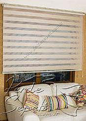 Açık Kahverengi Dar Pileli Ekonomik Zebra Perde - 4