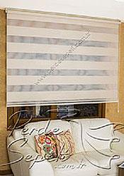 Açık Kahverengi Geniş Pileli Ekonomik Zebra Perde - 4