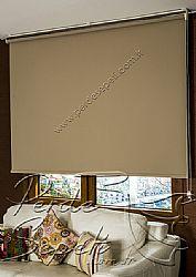 Açık Kahverengi Neo Classic Stor Perde - 1