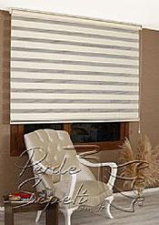 Açık Krem Exotic Zebra Perde - 4