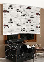 Antika Araba Baskılı Zebra Perde - 5