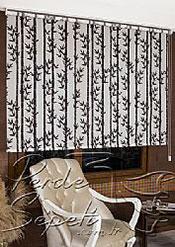 Bambu Desenli Design Tül Stor Perde - 3