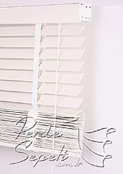 Pavlonya Ağacı Mat Beyaz 50mm Ahşap Jaluzi - 6
