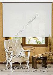 Beyaz Cam Elyaf Screen Stor Perde - 2