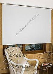 Beyaz Cam Elyaf Screen Stor Perde - 3