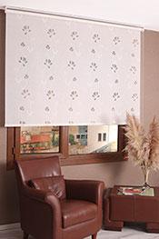 Beyaz Çiçek Desenli Mucize Serisi Stor Perde -