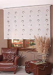 Beyaz Çiçek Desenli Mucize Serisi Stor Perde - 1