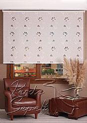 Beyaz Çiçek Desenli Mucize Serisi Stor Perde - 2