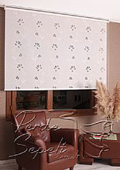 Beyaz Çiçek Desenli Mucize Serisi Stor Perde - 3