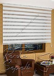 Beyaz Dar Pileli Ekonomik Zebra Perde - 4