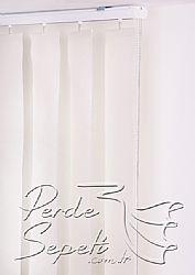 Beyaz Dikey Kumaş Perde 127mm - 5