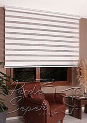 Beyaz Exotic Zebra Perde - 4