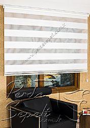 Beyaz Geniş Pileli Ekonomik Zebra Perde - 4