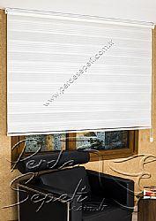 Beyaz Geniş Pileli Ekonomik Zebra Perde - 5