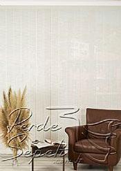 Beyaz Jacquard Screen Dikey Kumaş Perde 127mm - 5