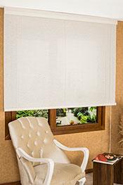 Beyaz Jute Ahşap Görünümlü Stor Perde -